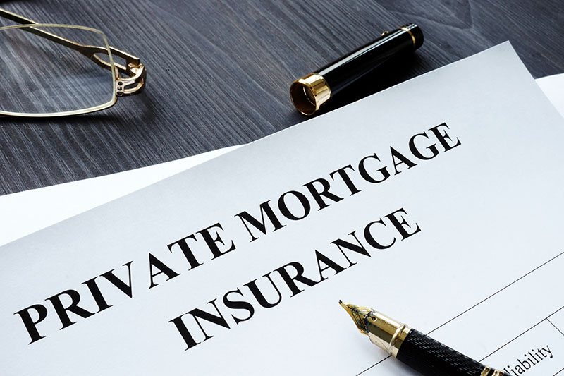 A Photo Of A Document Detailing A Private Mortgage Insurance Agreement.
