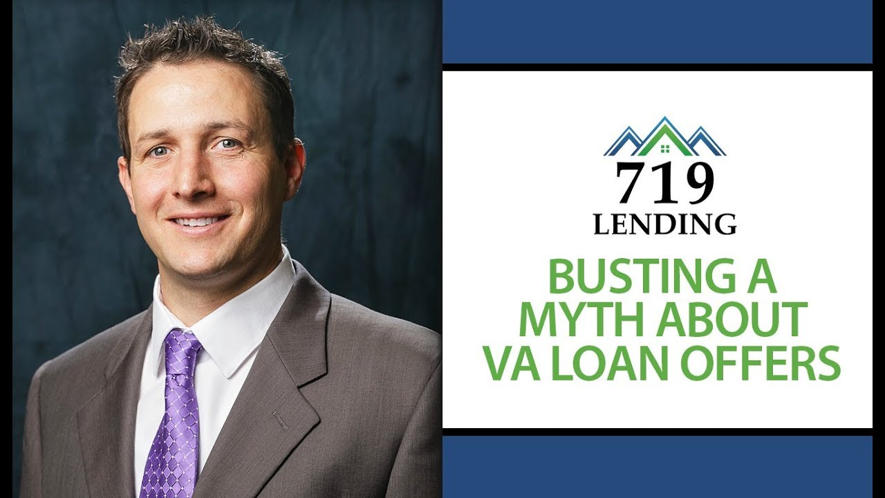 Thumbnail From A Video Talking About Common Myths About VA Loans.