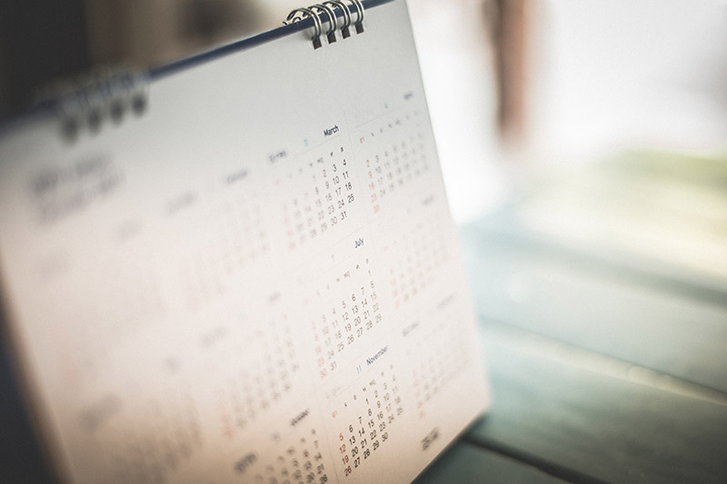A Calendar Indicating Peak Home Buying Season.